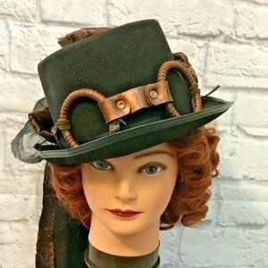 Steampunk Festival Vintage Party Hat Goggle Look